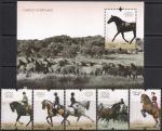 Португалия 2009 год. Лошади (282.3421). 5 марок + блок