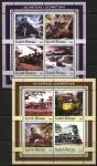 Гвинея-Бисау 2003 год. Паровозы. 2 малых листа