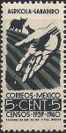 Мексика 1939 год. Перепись населения. 1 марка из серии (ном 5)
