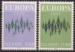 Исландия 1972 год. Европа. 2 марки
