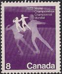 Канада 1972 год. Чемпионат мира по фигурному катанию в Калгари. 1 марка