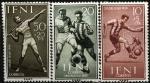 Ифни (Марокко) 1959 год. День почтовой марки. Футбол, метание копья. 3 марки (н