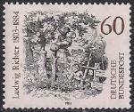 ФРГ 1984 год. 100 лет со дня смерти художника А. Рихтера. 1 марка