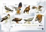 Украина 2020 год. Красная Книга Украины. Хищные птицы (UA1168). Блок без зубцов