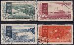 Китай 1957 год. Плотины на Желтой реке. 4 гашеные марки