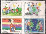 Бразилия 2000 год. Детские рисунки. 4 марки