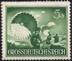 Германия (Рейх) 1944 год. День Вермахта. Парашютисты (ном. 5+3). 1 марка из серии
