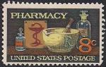 США 1972 год. 120 лет Американской фармацевтической ассоциации. 1 марка