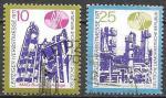 ГДР 1971 год. Лейпцигская ярмарка. НПЗ, 2 гашеных марки