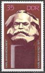 ГДР 1971 год. Памятник Карлу Марксу, 1 марка