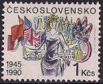 ЧССР 1990 год. 45 лет Освобождения. 1 марка
