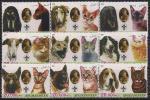 Афганистан 2003 год. Кошки и собаки. Основатель скаутского движения. Р. Баден-Пауэлл. 9 марок