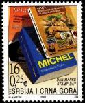 Сербия и Черногория 2003 год. День почтовой марки. 1 марка