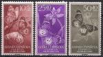 Гвинея (Испания) 1958 год. День почтовой марки. Бабочки. (090.353). 3 марки