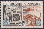 Франция 1964 год. 20 лет освобождению страны от фашизма. Помощь войск союзников. 1 марка