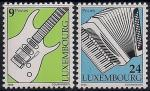 Люксембург 2000 год. Музыкальные инструменты. 2 марки