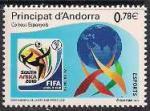 Андорра 2005 год. ЧМ по футболу в ЮАР (021.372). 1 марка