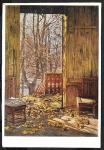 Почтовая карточка. Худ. И. Бродский. Опавшие листья. 1951 год