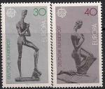 ФРГ 1974 год. Европа СЕПТ. Скульптуры В. Лембрука. 2 марки