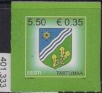 Эстония 2007 год. Стандарт. Герб города Тарту. 1 марка (401.333)