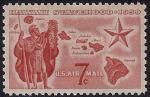 США 1959 год. Присоединение Гавайских островов к США. 1 марка