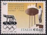 Италия 2010 год. 50 лет Летним Олимпийским играм в Риме. 1 марка (Н)