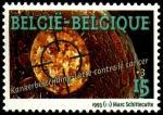 Бельгия 1993 год. 10 лет ассоциации борьбы с раком. 1 марка