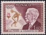 Монако 1963 год. 100 лет со дня рождения Пьера де Кубертена. 1 марка