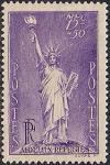 Франция 1936 год. Международный Фонд Нансена. Статуя Свободы. 1 марка с наклейкой