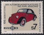 Австрия 1999 год. 100 лет со дня рождения автоконструктора К. Йеншке. 1 марка