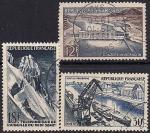 Франция 1956 год. Технические достижения. 3 гашёные марки