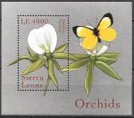 Сьерра-Леоне 2000 год. Орхидеи, блок