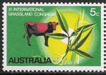 Австралия 1970 год. Конгресс пастбищ, корова, 1 марка