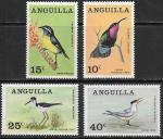 Ангилья 1968 год. Британские заморские территории. Местные птицы, 4 марки