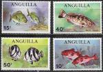 Ангилья 1969 год. Морские рыбы, 4 марки