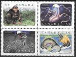 Канада 1990 год. Сказочные чудовища, 4 марки