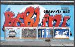 Гамбия 2013 год. Искуство граффити, блок