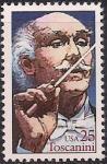 США 1989 год. Артист Артуро Тосканини. 1 марка