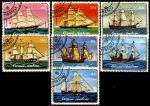 Султанат Окуси-Амбено 1977 год. Парусники. 7 гашёных марок