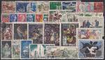 Набор почтовых марок. Франция. 32 гашеных марок