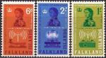 Фолклендские острова 1962 год. 50 лет местному радио. 3 марки