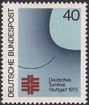 ФРГ 1973 год. Национальный физкультурный праздник в Штутгарде. 1 марка