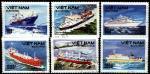 Вьетнам 1990 год. Морские суда. 6 гашеных марок