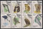 Россия 1993 год. Фауна мира. 8 гашёных марок