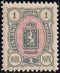 Русская Финляндия 1889-1892 год. Марка номинал 1 марка