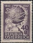Австрия 1947 год. 100 лет австрийскому телеграфу. 1 марка