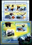 Гвинея-Бисау 2008 год. Черная цапля, тюлень и морские раковины. Малый лист + блок