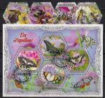 Кот дИвуар 2018 год. Пчелы и бабочки. Гашеные 4 марки и малый лист
