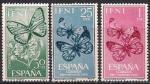 ИФНИ (Марокко) 1963 год. Бабочки (147.224). 3 марки
