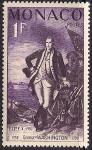 Монако 1956 год. Первый президент США Джордж Вашингтон (ном. 1). 1 марка из серии